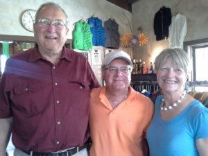Dunham Cellars' David and Cheryl Blair with Jim Campanini