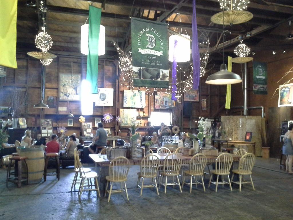 Dunham Cellars wine-tasting room in Walla Walla.