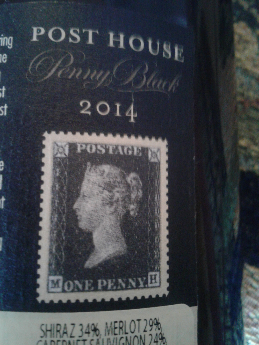 Every Post House wine carries a stamp. One of Queen Victoria graces the Penny Black bottle.